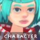 Female Lancer - Character Sprite