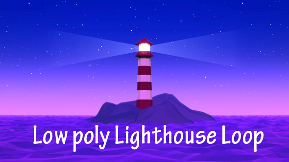VideoHive Low Poly Llighthouse Loop 19641342