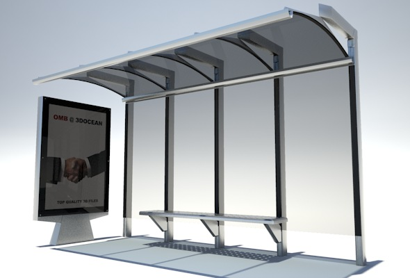 3DOcean Bus stop shelter 74500
