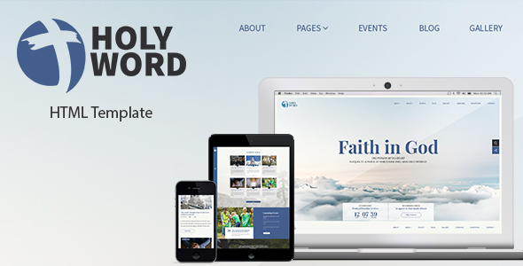 Holy Word - Church, Religion, Events Site Template