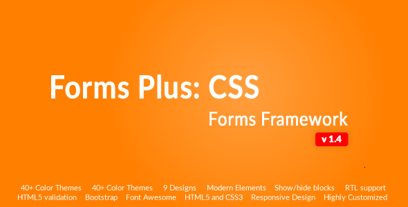 Forms Plus: CSS - Form Framework - CodeCanyon Item for Sale
