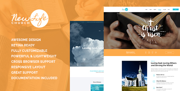 New Life | Church & Religion Site Template