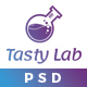 TastyLab Mobile Application Landing Page