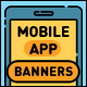 Mobile App Flat Banners