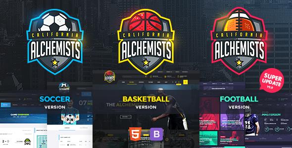 Alchemists - Basketball, Soccer, Football Sports Club and News HTML Template