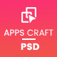 Apps Craft - App Landing PSD Template