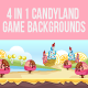 4 in 1 Candy Land Bagckgrounds