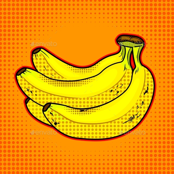 Bananas Fruit Vector Illustration