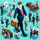 Isometric Isolated Business People Icon Set
