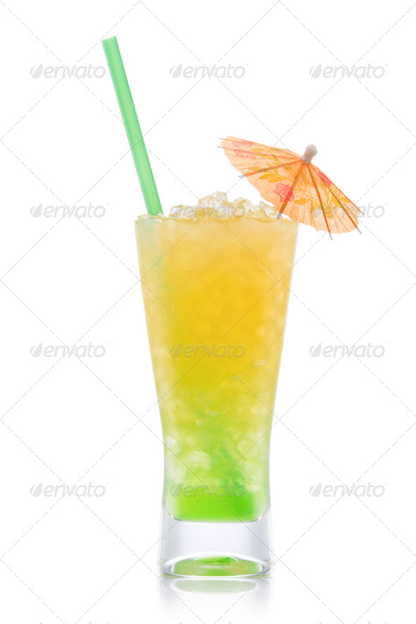 Kivi Pina colada drink  cocktail - Stock Photo - Images