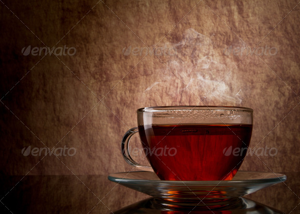 tea in glass cup - Stock Photo - Images