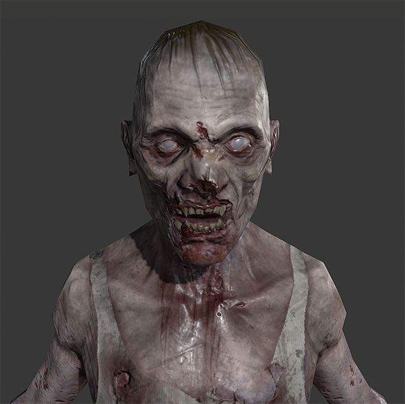 Lowpoly Zombie Guy - 3DOcean Item for Sale