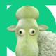 Sheep Font (6 PSD, 216 PNG)