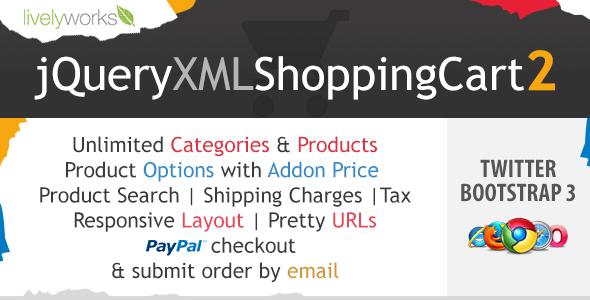 JQuery XML Shopping Cart - PayPal Store - Shop