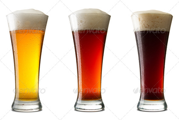 Three cold beer - Stock Photo - Images