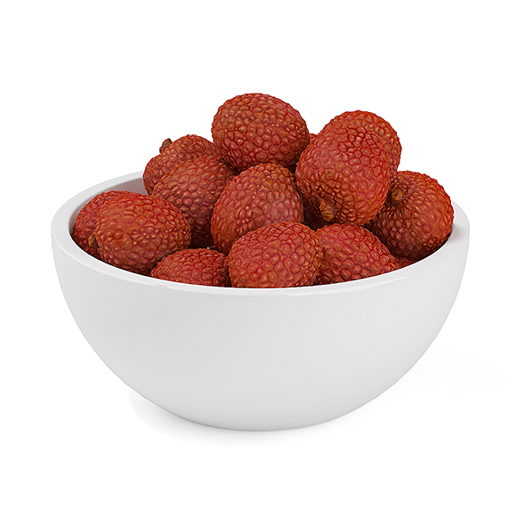 Bowl of Lychees - 3DOcean Item for Sale