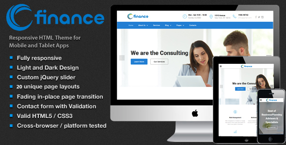 Download Finance - Accounting, Consulting & Business Website Template