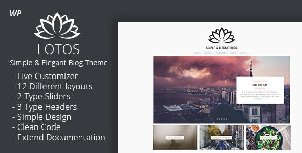 Lotos - Simple Blog Theme