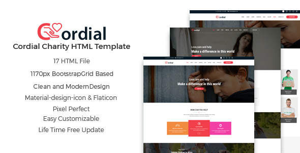 Cordial - Charity And Nonprofit HTML5 Template