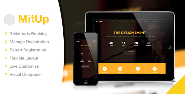 MitUp - Event & Conference WordPress Theme
