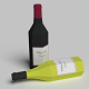 Wine Bottles Low Poly
