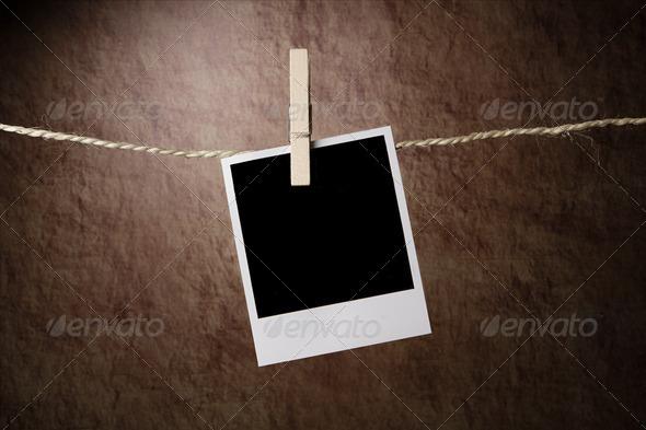 Empty instant photo - Stock Photo - Images