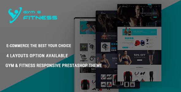 Gym & Fitness - Responsive Prestashop Theme