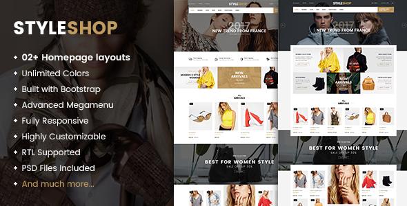 StyleShop - Multi-Purpose Responsive WooCommerce Theme