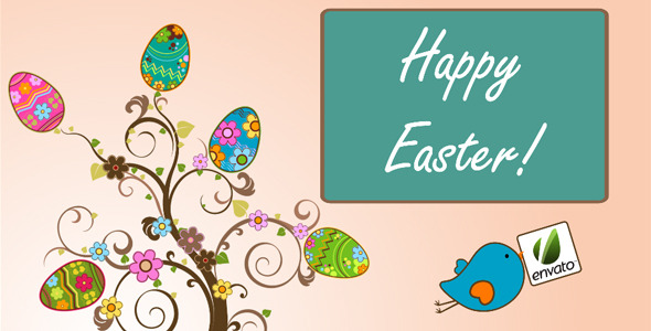 VideoHive Animation Of The Tree With Easter Eggs Or Dots 1928891