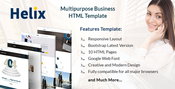 Helix - Multipurpose Business HTML Template for Professionals and Corporates
