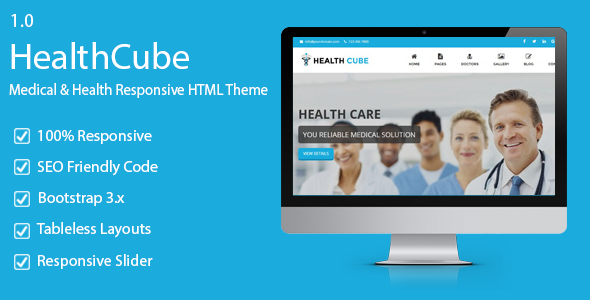 HealthCube - Health and Medical Responsive HTML5 Template