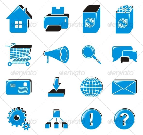 Graphic River Web icon set Icons -  Web 74521