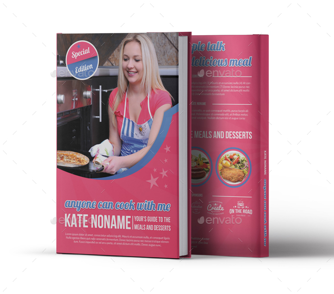 Graphicriver Book Cover Template Vol : Cooking book cover template vol by owpictures graphicriver