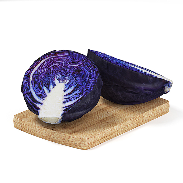 3DOcean Sliced Red Cabbage 19682759
