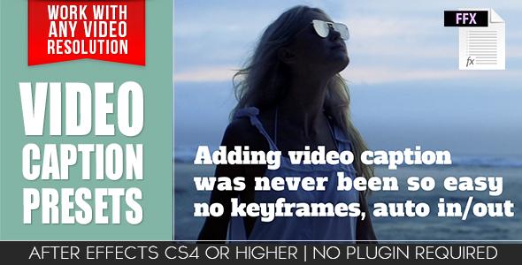 Video Caption Presets