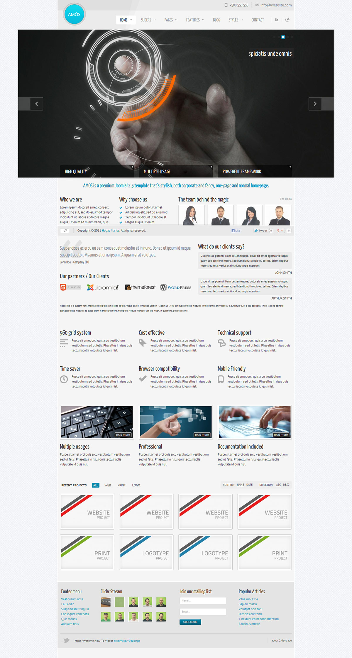 AMOS - Template for Joomla - GENERAL PAGE - NORMAL HOMEPAGE