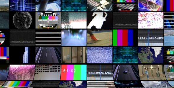 VideoHive Video Wall Background Loop Pack 1929203