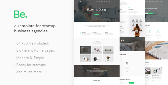 Be - Startup Business Template
