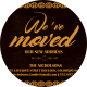 ArtDeco Moving Announcements Card