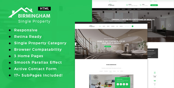 Brimingham | Real Estate Single Property HTML5 Template