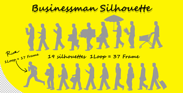 VideoHive Businessman Silhouette Pack 1929345