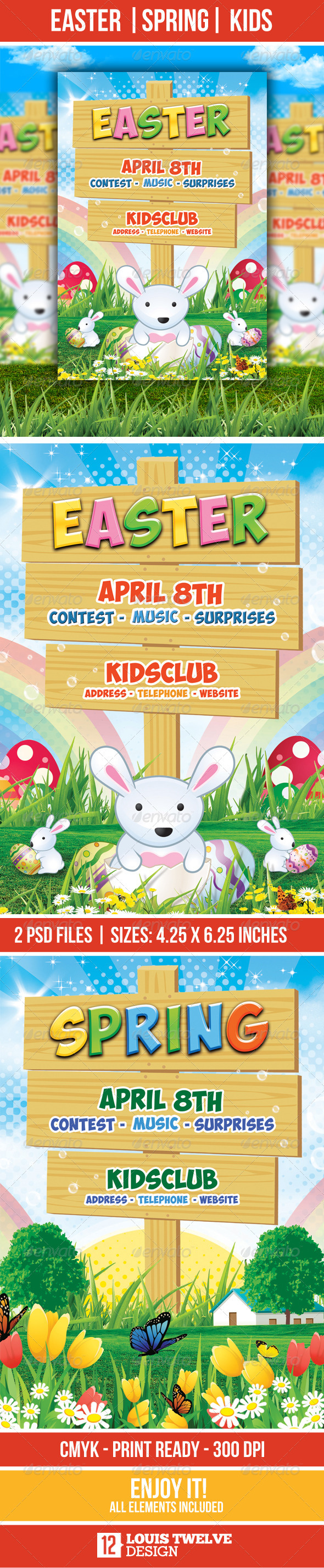 GraphicRiver Easter Kids Spring Flyer Template 1929355