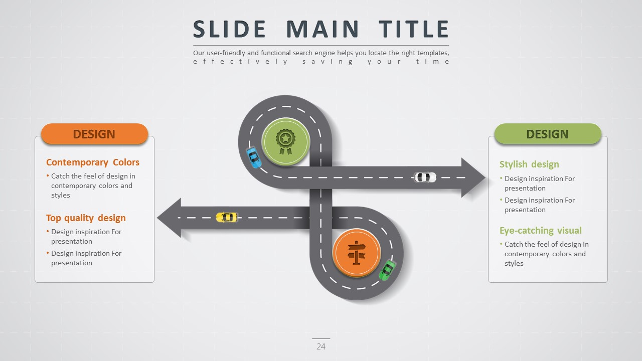 road powerpoint templates