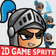 Blue Knight 2D Game Character Sprites 002