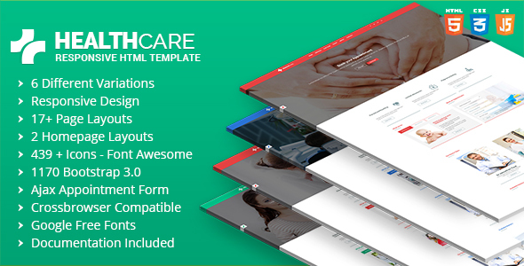 Health Care - Doctor Hospital Clinic Medical Responsive Website Template