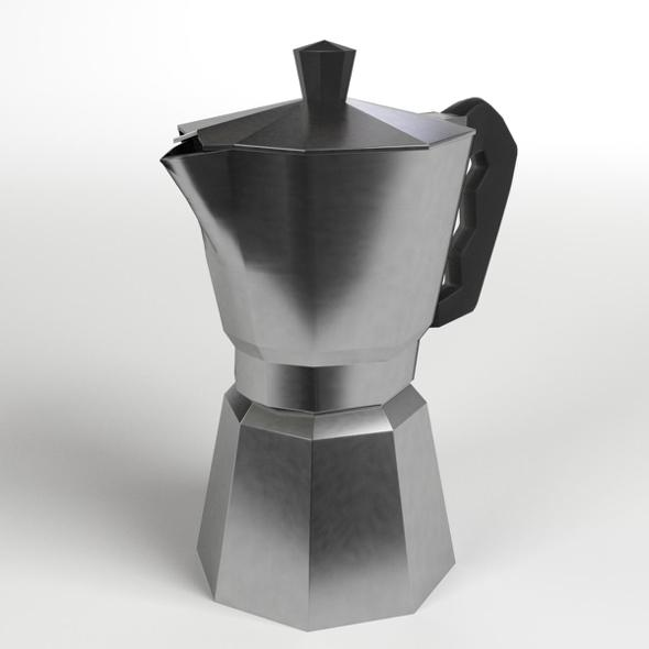Moka Coffee Pot - 3DOcean Item for Sale