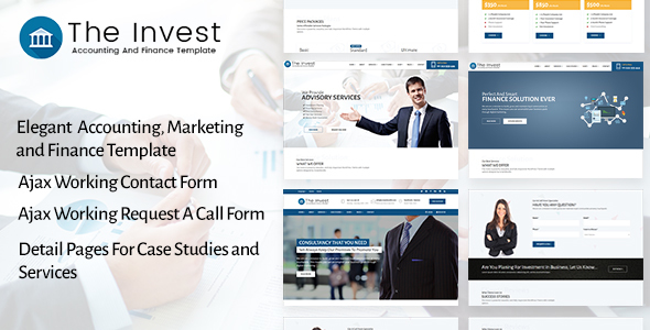 The Invest - Accounting, Finance, Consulting, Business and Marketing Template