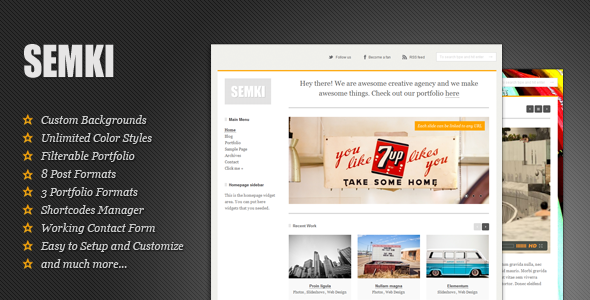 Semki - Personal / Business Flexible WP Theme