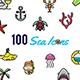100 Sea Icons