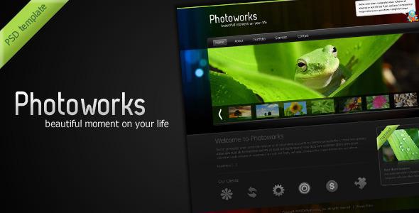 ThemeForest Photoworks Photography & Portfolio PSD Template 67448